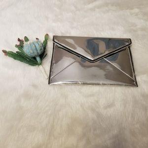 Rebecca Minkoff Leo Metallic Envelope Clutch Bag